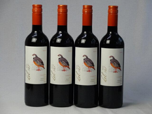 4本セット ミディアムボディ赤ワイン デルスール カルメネール(チリ) 750ml×4本