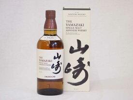 ご進物贈り物 サントリーウイスキー 山崎 シングルモルト 山崎ギフトボックス付 43度 yamazaki whisky 700ml(ギフト対応可)