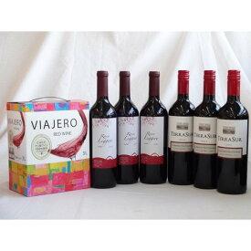 ワインセット チリ産大容量赤ワイン飲み比べセット(ヴィアヘロ 赤ワイン ミディアムボディ 3000ml クレマスキ リゲロ・ロ