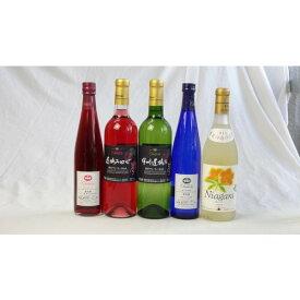 ワインセット 国産甘口ロゼ×白ワイン5本セット(コンコード 甲州遅摘みロゼ 甲州遅摘み白 ナイアガラ 完熟ナイアガラ) 500m