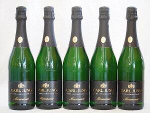 ドイツ脱アルコールスパークリング白ワイン カールユングドライ(やや辛口)750ml×5