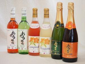 北海道おたるスペシャルワイン6本セット(やや甘口白、やや甘口ロゼ、やや甘口赤)720ml×6本