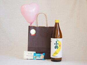 バレンタイン チューハイセット バナナのような甘い香り ワイン酵母小鶴theBananaーの素 900ml(鹿児島県) メッセージカード ハート風船
