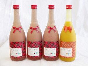 ミルクたっぷり4本セット ミルクたっぷりいちごの梅酒3本 マンゴーの梅酒1本 研醸 720ml×4本 母の日 父の日