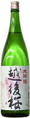 【送料無料】大吟醸 越後桜 1800ml