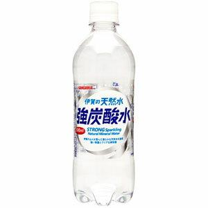 サンガリア 伊賀の天然水 強炭酸水 500ml×24本(1ケース)