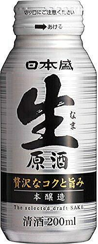 〔清酒・日本酒〕★送料無料★※日本盛 本醸造 生原酒 200mlボトル缶 1ケース30本入り 【RCP】