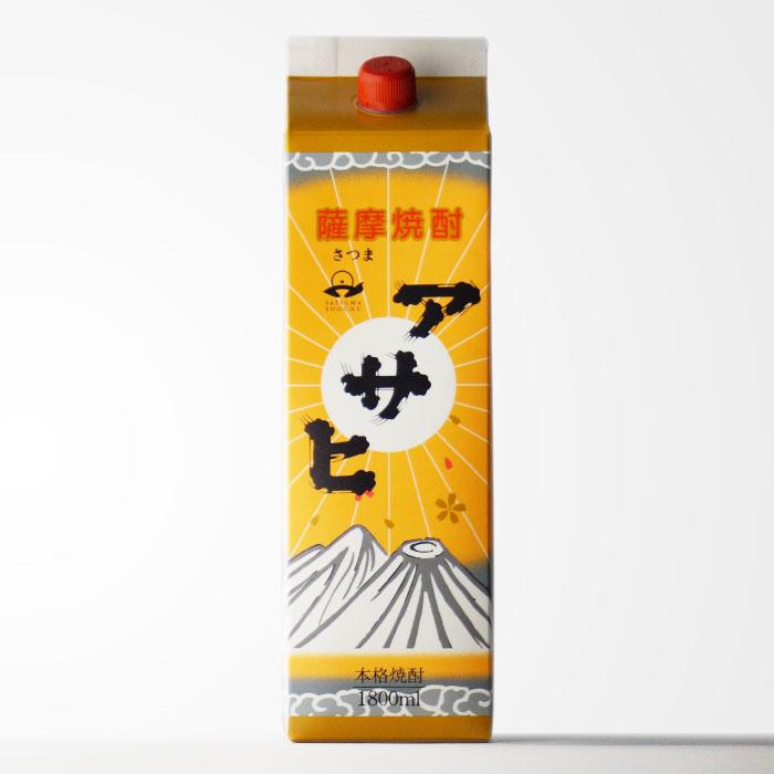 味わいと価格に大満足! 芋焼酎 日當山醸造 アサヒ 1800mlパック 【RCP】