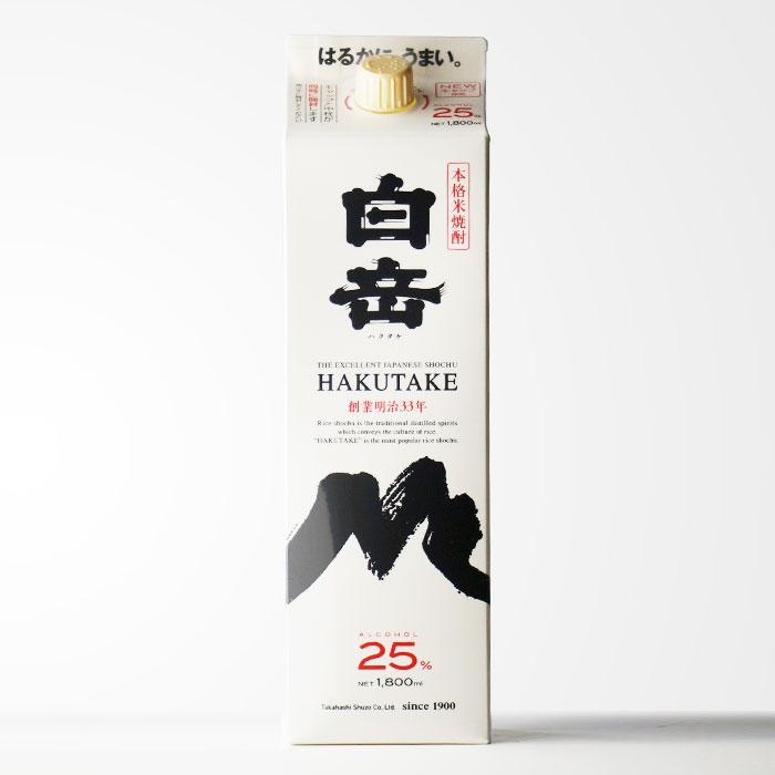 【熊本県】 米焼酎 高橋酒造 白岳1800mlパック 【RCP】