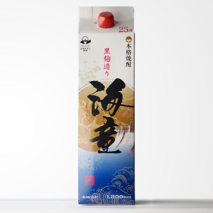 【鹿児島県】 濱田酒造 「海童」 (かいどう) 1800mlパック 焼酎ファンなら一度は飲んでおきたい逸品です 【RCP】