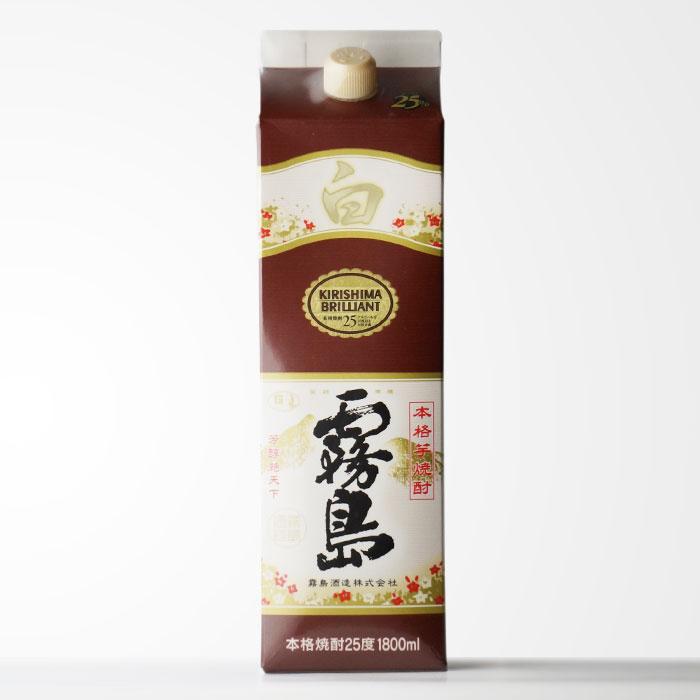 芋焼酎 霧島酒造 「白霧島」 (しろきりしま) 25度1800mlパック 芋焼酎本来の味わい! 【RCP】