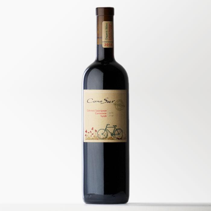 チリワイン 「コノスル オーガニック カベルネ カルメネール シラー」 750ml 赤ワイン 【RCP】