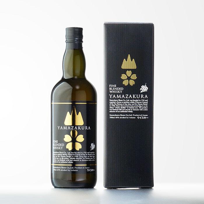【国産ウイスキー】ブレンデッドウイスキー山桜 黒ラベル 笹の川酒造 40度 700ml【RCP】