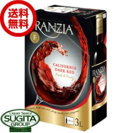 【送料無料】 赤ワイン フランジア ダークレッド 3000ml 【3Lボックス×4個入(1ケース)】 箱ワイン バックインボックス アメリカ カリフォルニア