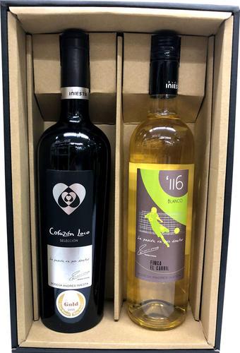 """ボデガ・イニエスタ・ミヌートス""""116""""ブランコ(白) &セレクション(赤) 2本ギフトセット wine red tinto White iniesta"""