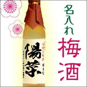 オリジナル名入れ梅酒 500ml【あす楽】【毛筆風印刷ラベル】