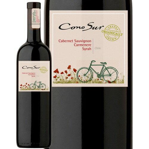 【あす楽】 コノスル オーガニック カベルネ・ソーヴィニヨン/カルメネール/シラー チリ 赤ワイン 750ml