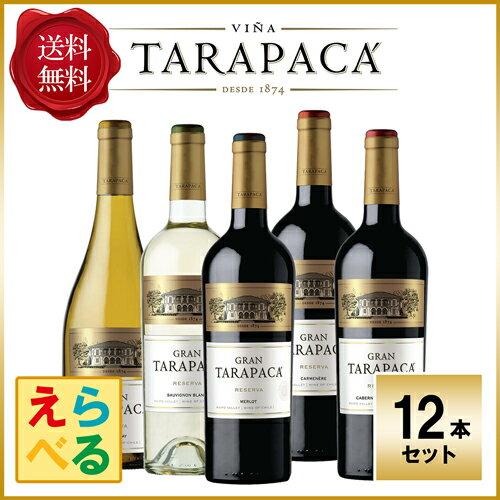 【送料無料】グラン タラパカ 12本 ワインセット 赤 白 チリワイン【あす楽】【選べる】 [N]