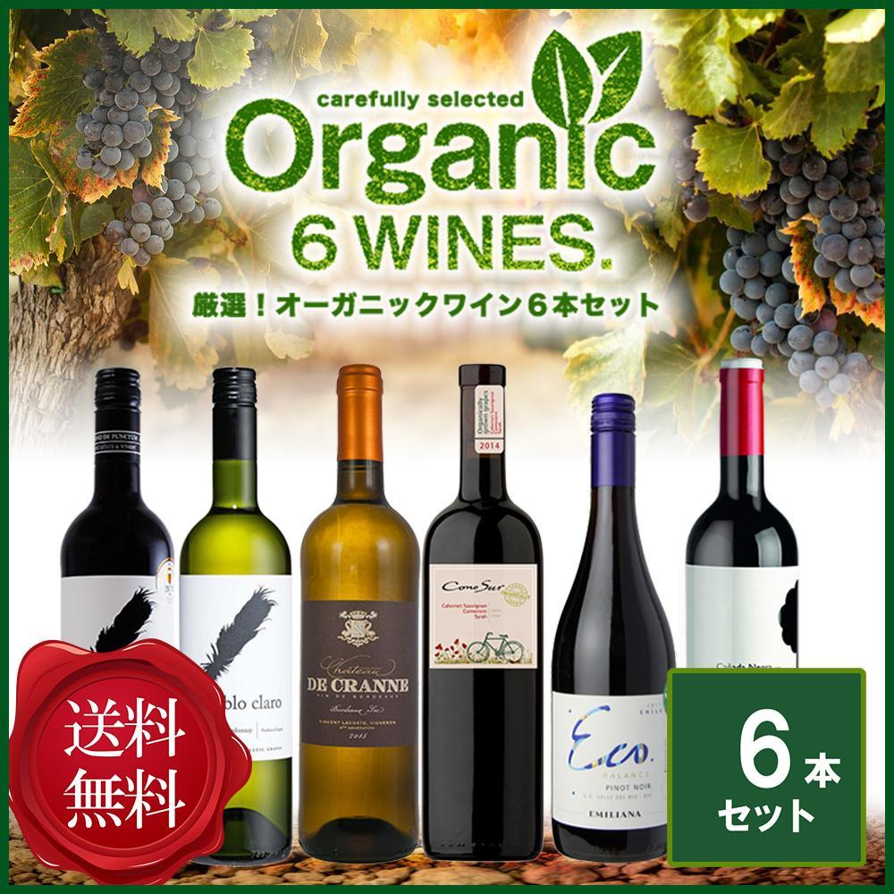 【送料無料】 厳選!コスパ抜群!オーガニック ワイン6本セット [N]