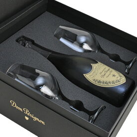 ドンペリニヨン 2008 白 オリジナルグラス2脚セット 【正規品・ギフト箱付】 750ml【あす楽対応】