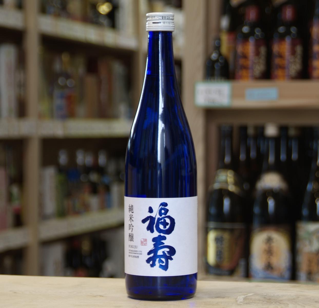 福寿 純米吟醸ブルーボトル 720ml 【神戸/灘 銘酒・地酒】