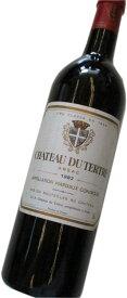昭和57年の誕生年ワイン 1982年 シャトー・デュ・テルトル 箱入りギフトラッピング [1982] CHATEAU DU TERTRE マルゴー格付け5級