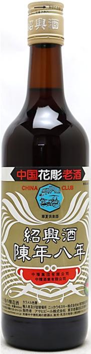 【訳あり】ラベル不良! 16度 中国花彫老酒 紹興酒 陳年8年 600ml(2)