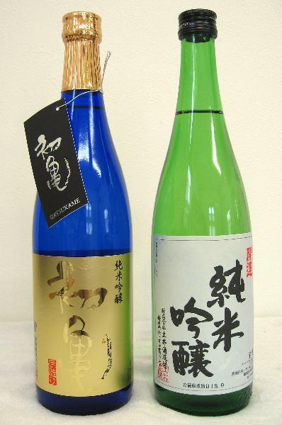 静岡の地酒セット■初亀純米吟醸(レベル変更)720ml&■開運純米吟醸720ml■