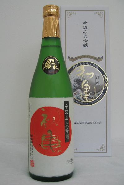 <12月初旬入荷予定>初亀 中汲み大吟醸720ml ※箱入り 平成28年度醸造