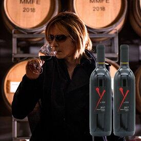 ワイ・バイ・ヨシキ カベルネ 2017 年            2本入り  (試飲コメント動画付き)          カリフォルニア赤ワイン Xジャパン YOSHIKI ヨシキの赤ワイン