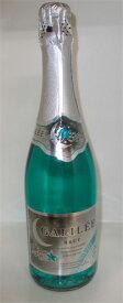 鮮やかな青色のスパークリングワイン ガリレイ・ブルー・ブリュット 750ml フランス