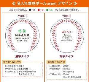 名入れ野球ボールデザイン集1