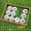 <あす楽>即日対応 <プロ仕様>ゴルフボール 【名入れ 9個】&【キーホルダー】包装込み 贈り物 ギフト プレゼント ホールインワ…