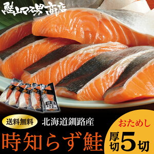 北海道釧路産 塩トキシラズ鮭(お試し5切)