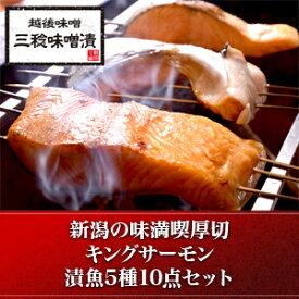 キングサーモン厚切 5種10点セット