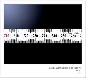 シンワ測定 細巾直尺 シルバー 2m