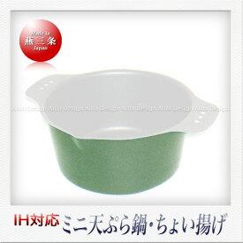 杉山金属 ちょい揚げ (天ぷら鍋)(グリーン)