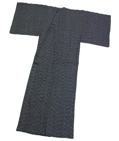 変り織り楊柳 綿麻素材で涼しい♪お仕立て上りメンズ浴衣《濃グレー》M〜3Lサイズまで揃えています