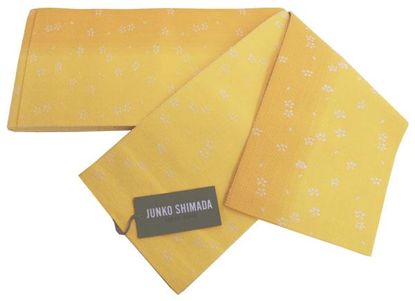 【送料無料でお届けします】JUNKO SHIMADA ブランド♪島田順子 ゆかた帯リバーシブル 半幅帯・小袋帯・浴衣帯【黄色グラデーション × 黄色地】