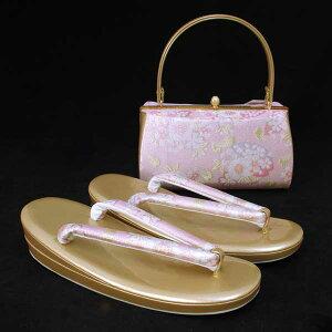【送料無料】LLサイズ【同梱購入で足袋プレゼント企画商品】高級 草履 バッグ セット