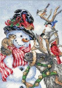 クロスステッチキット クリスマス Dimensions 刺繍キット Snowman and Reindeer スノーマンとトナカイ クリスマス 送料無料