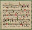 クロスステッチキット クリスマスソング 楽譜 クリスマスキャロル クリスマスツリー 刺繍キット 送料無料