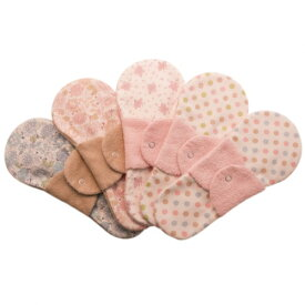 布ナプキン型 冷えとりライナー ヒエトリパット Cotton《綿100%》柄・タオル地 おまかせ5枚セット