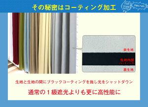 100%遮光カーテンミラーレース4枚セット/2枚セット1級遮光完全遮光超遮光遮熱断熱保温防音洗濯可形状記憶加工コーティングカーテン幅100cm幅150cm幅200cmレースカーテンセット北欧メルク