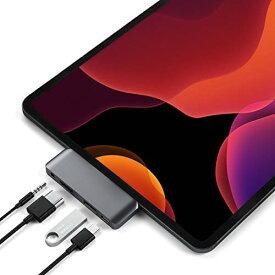 Satechi アルミニウム Type-C モバイル Proハブ USB-C PD充電 4K HDMI USB 3.0 3.5mm ヘッドホンジャック (iPad Pro, Microsoft Surface Go対応) (スペースグレイ)