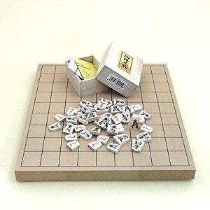 将棋セット 新桂1寸卓上接合将棋盤と木製優良押駒桐箱入り のセット