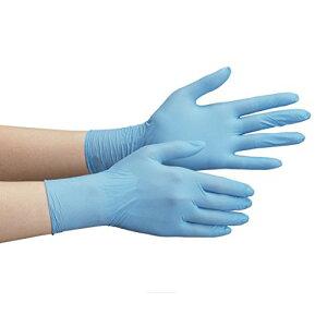 ミドリ安全 ニトリル手袋 ベルテ710N 薄手タイプ 粉なし ブルー L 100枚入