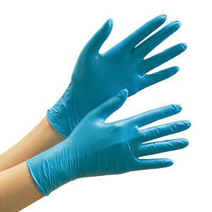 ミドリ安全 ニトリル ディスポ手袋 粉なし 薄手 ベルテ772 ブルー M 100枚入