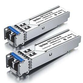 ギガビット SFPモジュール LC シングルモード 光トランシーバ 1000Base-LX/LH Cisco GLC-LH-SMD, Netgear, Ubiquiti, D-Link, Supermicro, Mikrotik 互換 2個 セット (1310nm,10km,DDM)
