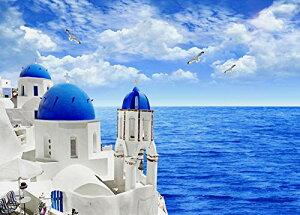 1000ピース ジグソーパズル 風景 サントリーニ島 エーゲ海を渡る風が吹いてくる (70×50cm) 推奨14才以上